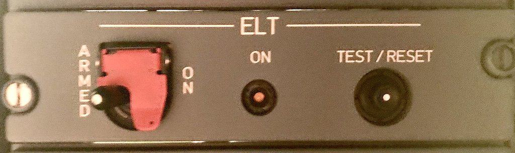 Emergency Location Transmitter ELT Panel on Airbus A330 Aircraft